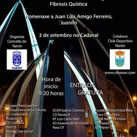 I Torneo Alevín F8 CD Narón para a difusión da Asociación Galega contra a F.Q. e homenaxe a Juanito.