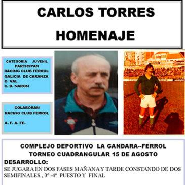 O Xuvenil A participará na Homenaxe a Carlos Torres.