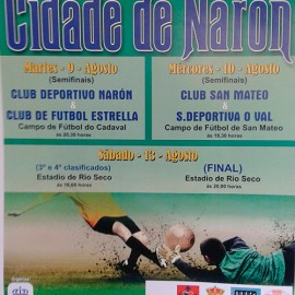 CD Narón e Estrella CF abren a XXXIV edición do Trofeo Cidade de Narón.